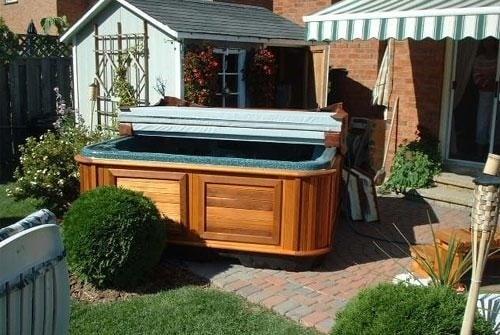 arctic spas hot tub on a patio